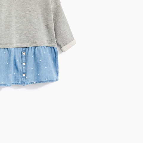 Váy chất liệu da cá diện mùa thu cho bé