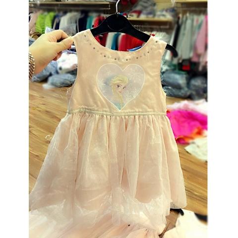 Váy voan Elsa hồng dễ thương xinh xắn