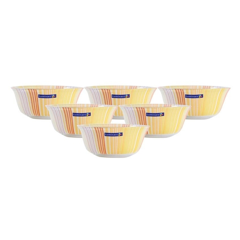Bộ chén thuỷ tinh Luminarc Temp Carina Orange Stripes Bowl 12cm
