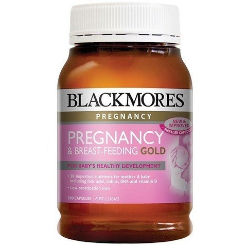 Vitamin tổng hợp Blackmores Pregnancy and Breastfeeding Gold, lo 180 viên nang
