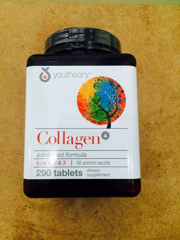 Collagen + C Type 1 2 3 290 Viên Collagen Youtheory