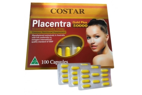 Nhau Thai Cừu Placenta Gold Plus 50000mg Costar