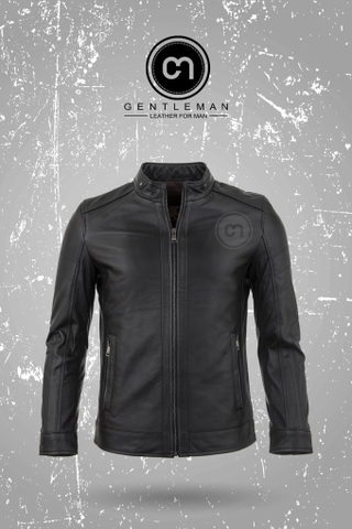 Áo Da Thật, Áo Da Bò Thật LEATHER JACKET - GM_JLC901_BL