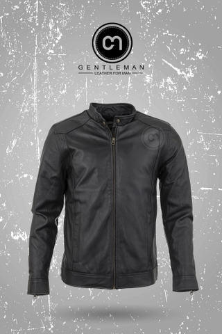 LEATHER JACKET - ADD71 - ĐEN