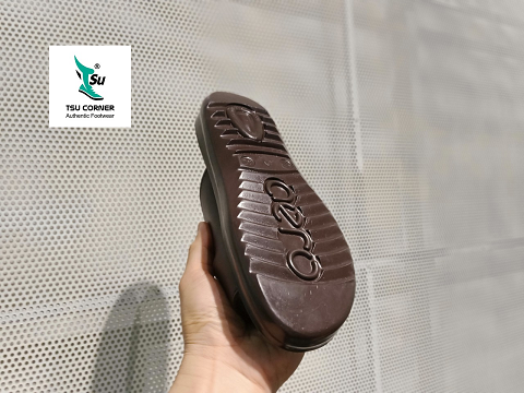 AEROSOFT LEATHER SLIPPERS BROWN