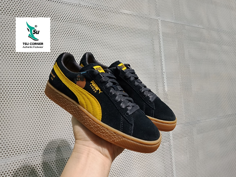 PM SUEDE CLASSIC LOW BLACK YELLOW