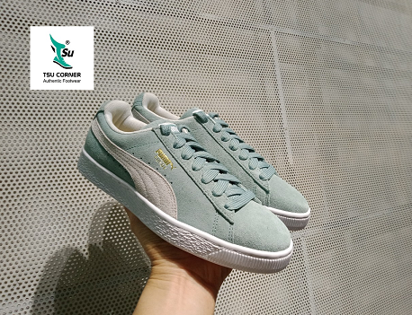 PM SUEDE CLASSIC LOW GREY LIGHT TURQUOISE