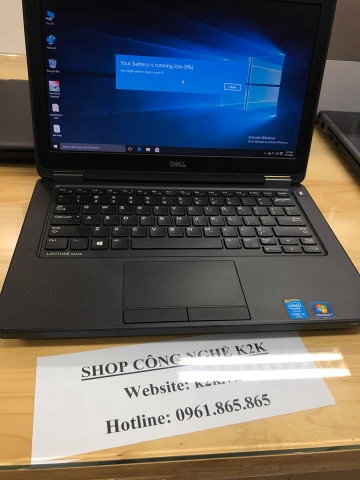 Dell Latitude E5250 (Intel Core i5-5300U 2.3GHz, 4GB RAM, 128GB SSD, VGA Intel Graphics 5500, 12.5 inch, Windows 8.1 Pro 64 bit)