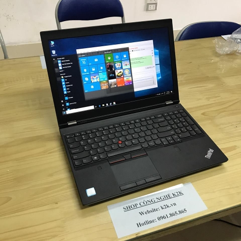 Laptop Lenovo Thinkpad P50 (Intel Core i7-6700HQ 2.60GHz, RAM 16GB, 128GB SSD + 500GB HDD, VGA Nvidia Quadro M2000M - 4GB GDDR5, 15.6