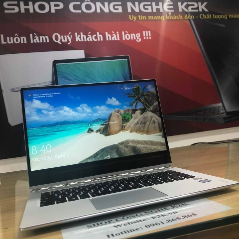 Lenovo Yoga 920 ( Model 2018 ) Chip Intel Core i7-8550U 1.8ghz, Turbo Boots 4.0Ghz, Ram 16Gb buss 2133, SSD 256Gb PCle,  LCD 13.9
