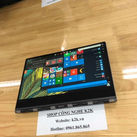 Lenovo Yoga 920 ( Model 2018 ) Chip Intel Core i7-8550U 1.8ghz, Turbo Boots 4.0Ghz, Ram 16Gb buss 2133, SSD 512Gb PCle,  LCD 13.9