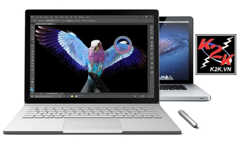 Microsoft Surface Book 1 (Intel Core i5, 8GB RAM, 128GB SSD, VGA Intel HD Graphics, 13.5 inch Touch Screen, Windows 10 Pro)