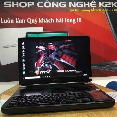 Laptop MSI GAMING GT83VR 7RF 278XVN Titan SLI/ Core i7-7920HQ/ Ram 64GB DDR4/ 512GB NVMe M.2 +  1TB HDD/ NVIDIA® GeForce GTX1080 8G DDR5 X2/ 18.4