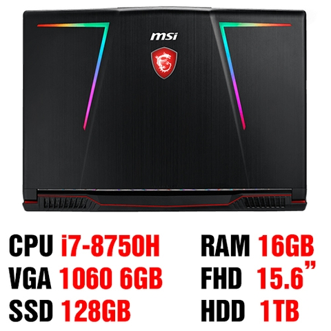 MSI GE63 Raider 8RE-266VN Core i7 – 8750H/ Ram 16Gb/ HDD 1Tb + SSD 128Gb/ GTX 1060 - 6GB GDDR5/ 15.6 Inch FHD/ Win 10.