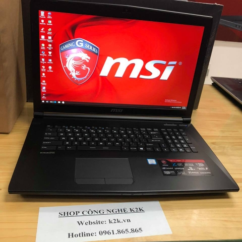 MSI GV72 ( Core i7-7700HQ, RAM 8GB DDR4, 128GB SSD + 1TB  HDD, Nvidia GeForce GTX1050 - 4GB, 17,3inch FHD)