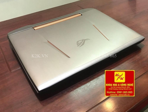 Laptop Asus Gaming G752VS Top Máy Chơi Games 2017  (Intel Core i7-7820HK 2.9GHz, 16GB RAM, 1256GB (256GB SSD + 1TB HDD), VGA NVIDIA GeForce GTX 1070 - 8GB DDR5, 17.3 inch FHD 120Hz, Free DOS)