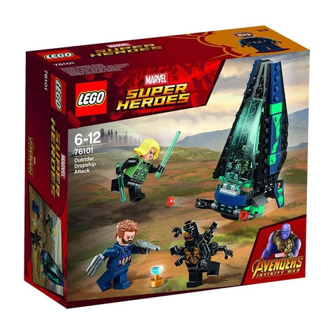 LEGO Marvel Super Heroes 76101 - Tàu Bay Outrider phục kích Captain America (LEGO Marvel Super Heroes 76101 Outrider Dropship Attack)