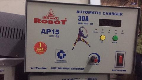 Sạc ắc quy 30A tự động robot