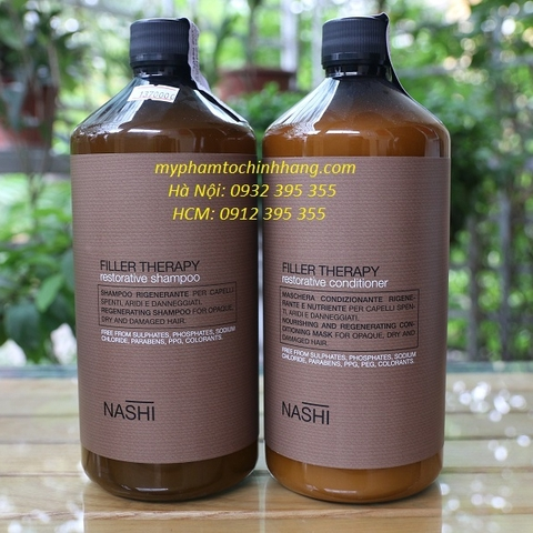 DẦU GỘIXẢ NASHI FILLER THERAPY RESTORATIVE 1000ML*2