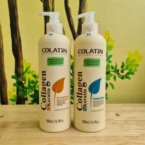DẦU GỘI XẢ COLATIN NATURAL CARE 500ML*2