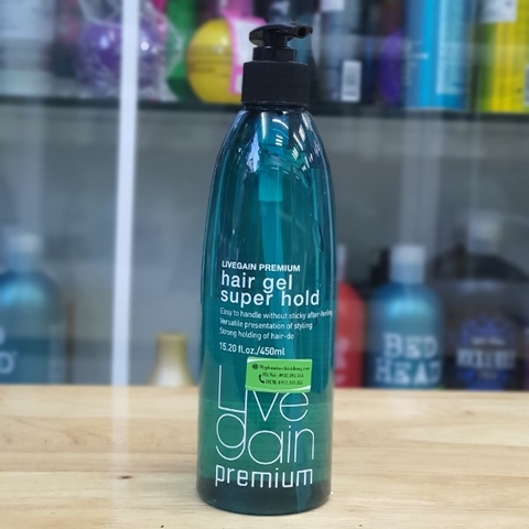 GEL CỨNG LIVEGAIN PREMIUM SUPER HOLD 450ML