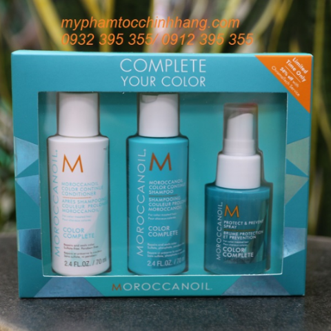 MOROCCANOIL TRY ME KIT COLOR COMPLEX GIỮ MÀU NHUỘM