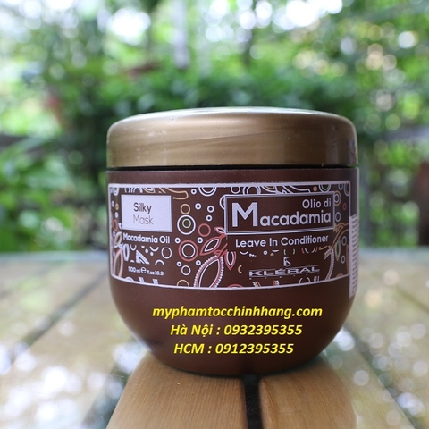 SILKY MASK MẶT NẠ TINH CHẤT MACADAMIA KLERAL 500ML