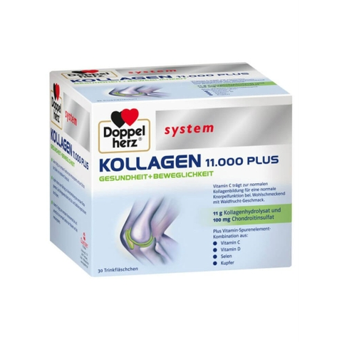 Collagen Thủy Phân Doppelherz Kollagen 11000 Plus, 30 x 25 ml