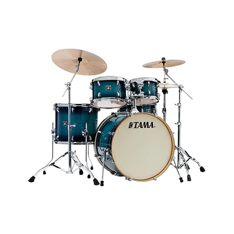TAMA CL52KRS-BAB Superstar Classic Maple 5-Piece Drum Shell Kit, Blue Lacquer Burst