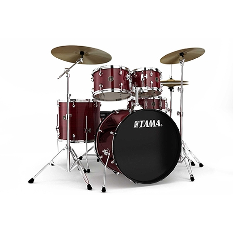 TAMA RM52KH6C-RDS Rhythm Mate 5-Piece Drums w/Hardwares & Cymbals, Red Stream