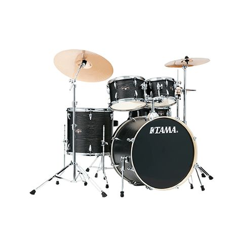 TAMA IE52KH6W-BOW Imperialstar 5-Piece Drum Kit w/Hardware, No Cymbals, Black Oak Wrap