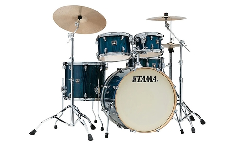 TAMA CL52KRSP-GHP Superstar Classic Exotix 5-Piece Drum Shell Kit, Gloss Sapphire Lacebark Pine