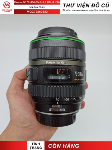 Canon EF 70-300mm F/4.5-5.6 DO IS USM (Cũ)