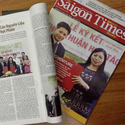 Saigon Times' press on Hoang Anh's latest success in ingredient