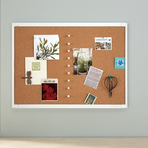 Quartet White Frame Cork Board MHOB1723