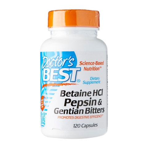 Doctor's Best Betaine HCL Pepsin and Gentian Bitters (120 viên )