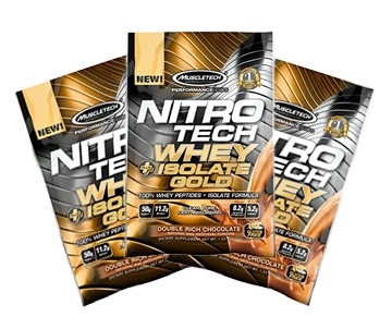 Sample Nitrotech Whey + Isolate Gold 32 Gram (mixed)
