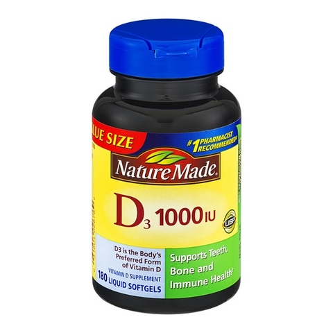 vitamin d3 25 mcg 1000 iu nature made