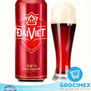 Dai Viet Beer From Vietnam / Red Dai Viet can Beer 5.5% 500ml