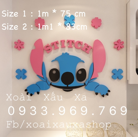 DECAL MICA ( DORAEMON - STITCH )