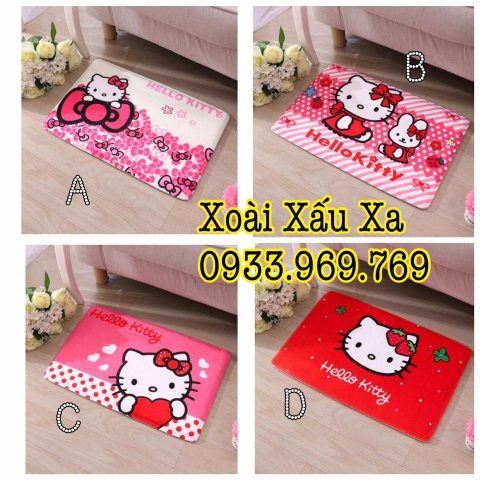 THẢM BÔNG HELLO KITTY
