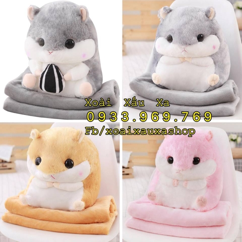 MỀN GỐI 2IN1 HAMSTER, THỎ BÔNG, HEO CON