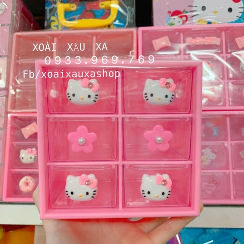TỦ NHỰA MINI KITTY ( 6 Ô )