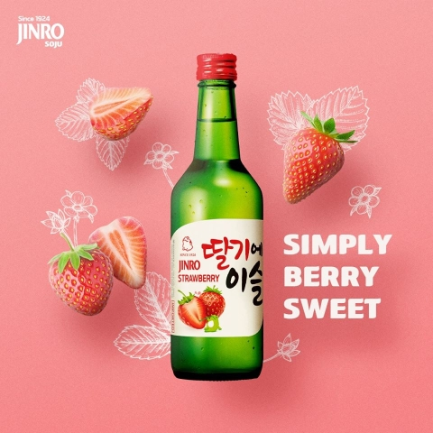 Rượu Soju Jinro Strawberry