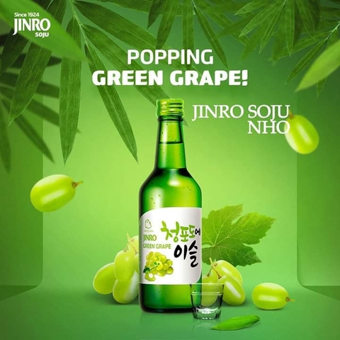 Rượu Soju Jinro Green Grape (360ml/13%)