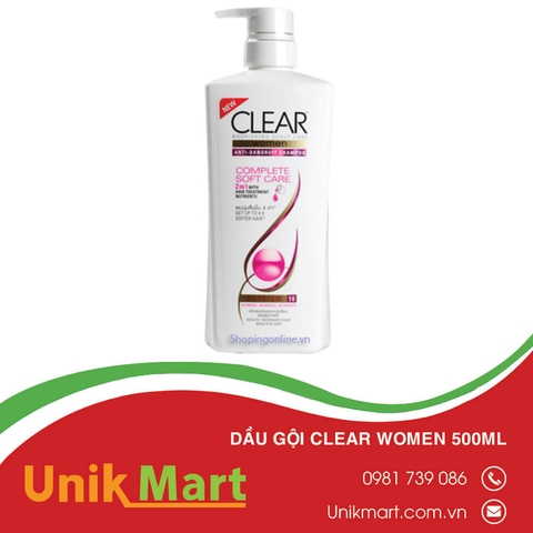 Dầu gội clear women 500ml