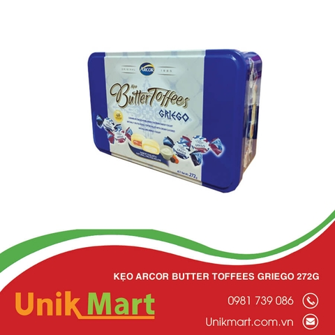 Kẹo Arcor Butter Toffees Griego 272g