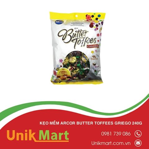 Kẹo mềm Arcor Butter Toffees Griego 240g