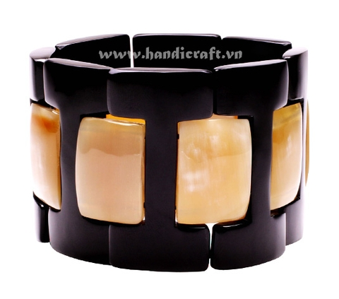 Black & brown horn bangle bracelet