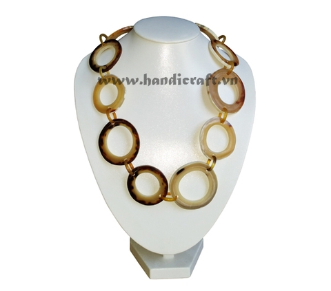 Naural horn circles necklace